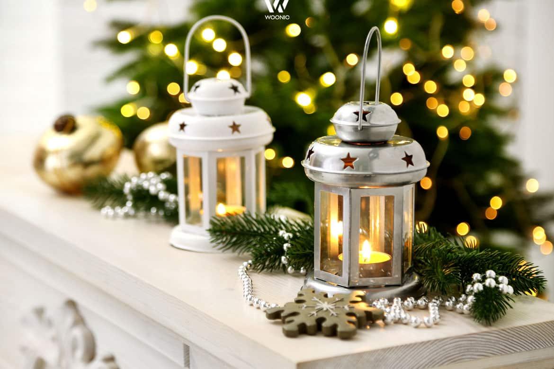 Laternen vermitteln ein wohnlich warmes Ambiente zu Weihnachten ...