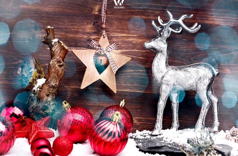 gemischte weihnachtsdeko elemente wohnidee by woonio. Black Bedroom Furniture Sets. Home Design Ideas