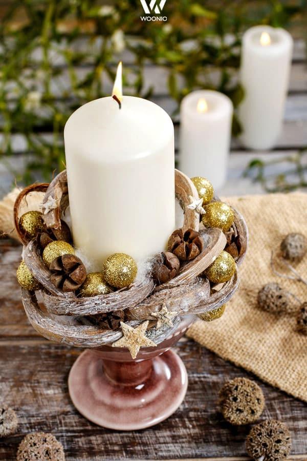 Liebevoll Gebasteltes Weihnachtsgesteck Wohnidee By Woonio