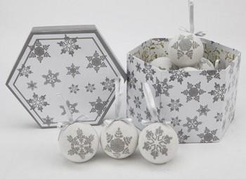 14-Stck-75-mm-Luxus-Weihnachtskugeln-CHRISTBAUMKUGELN-Schneeflocke-Weihnachtskugeln-mit-Geschenk-Boxen-Christbaumschmuck-Polyfoam-Weihnacht-0