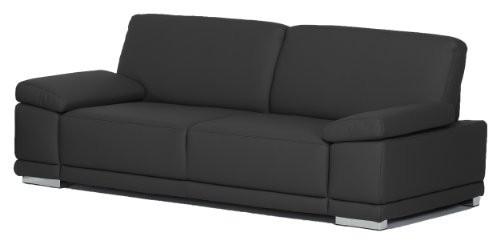 3-Sitzer-Corianne217x80x99cmKunstleder-Bison-schwarz-0