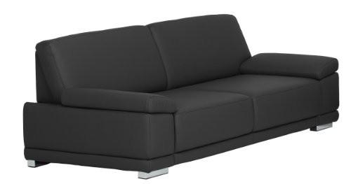 35-Sitzer-Corianne248x80x99cmKunstleder-Bison-schwarz-0