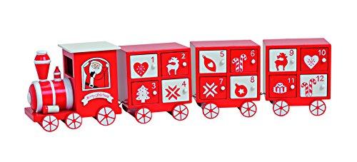 adventskalender zum bef llen 4 teilig 48x8x11 cm aus holz eisenbahn optik in rot wei. Black Bedroom Furniture Sets. Home Design Ideas