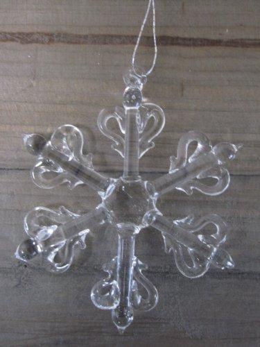 6 schneeflocken aus glas zum h ngen christbaumschmuck online kaufen bei woonio. Black Bedroom Furniture Sets. Home Design Ideas