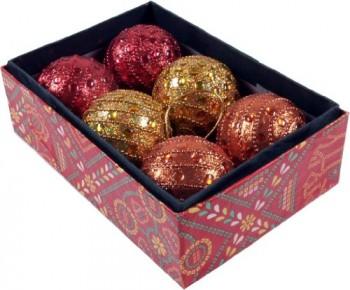 6-groe-Glitterkugeln-in-2-Farbvariationen-Weihnachtsschmuck-Engel-Variante-Farbkombination-rot-gelb-orange-0