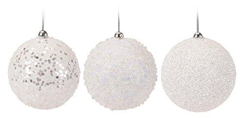 9er set weihnachtskugel wei glitzer 6cm aus styropor bruchfest 9 teilig online kaufen bei woonio. Black Bedroom Furniture Sets. Home Design Ideas