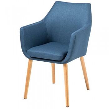 AC-Design-Furniture-59329-Armstuhl-Trine-58-x-58-x-84-cm-SitzRcken-Stoff-Corsica-dunkel-blau-0