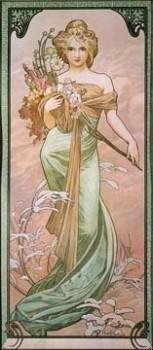 Acrylglasbild-Fruehling-II-von-Alphonse-Maria-Mucha-90-x-207cm-Motiv-bis-an-die-Kanten-Kunstdruck-Poster-Klassiker-hochwertige-Fertigung-Art-Galerie-Shop-0