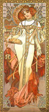 Acrylglasbild-Herbst-II-von-Alphonse-Maria-Mucha-90-x-207cm-Motiv-bis-an-die-Kanten-Kunstdruck-Poster-Klassiker-hochwertige-Fertigung-Art-Galerie-Shop-0