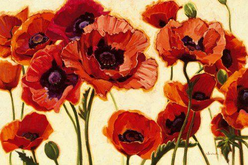Acrylglasbild-Orientals-von-Shirley-Novak-179-x-120cm-Motiv-bis-an-die-Kanten-Kunstdruck-Poster-Malerei-Blumen-Mohn-Mohnblueten-Blueten-Wohnzimmer-Treppenhaus-bunt-hochwertige-Fertigung-Art-Galerie-Sh-0