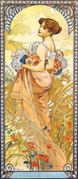 Acrylglasbild-Sommer-II-von-Alphonse-Maria-Mucha-90-x-207cm-Motiv-bis-an-die-Kanten-Kunstdruck-Poster-Klassiker-hochwertige-Fertigung-Art-Galerie-Shop-0