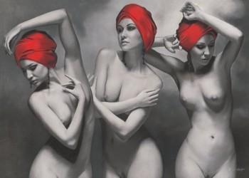 Acrylglasbild-The-graces-von-Brita-Seifert-169-x-120cm-Motiv-bis-an-die-Kanten-Kunstdruck-Poster-hochwertige-Fertigung-Art-Galerie-Shop-0