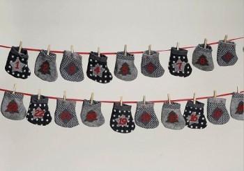 Adventskalender-Adventsgirlande-Socken-Stoffsocken-Weihnachten-0