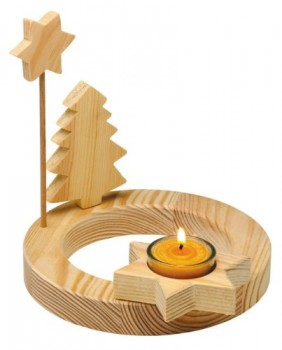Adventskranz-Single-aus-massivem-Holz-mit-Teelicht-0