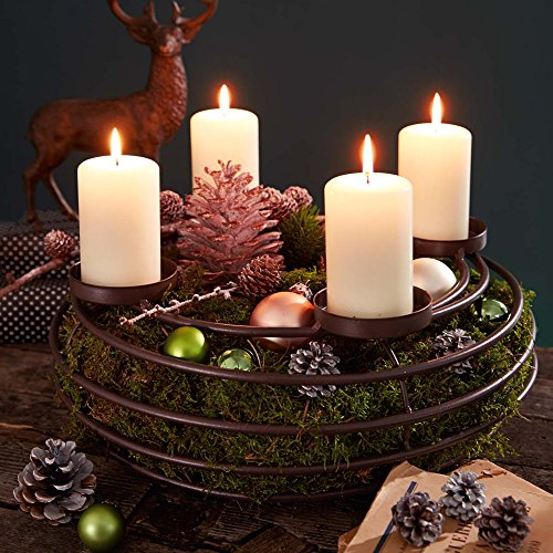 Adventskranz Aus Metall Dekorieren : advent wreath candle holder metal 39 cm online kaufen ~ Michelbontemps.com Haus und Dekorationen