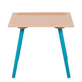 Beistelltisch-Bamboo-Warrior-Gre-41-cm-H-x-48-cm-W-x-48-cm-T-Farbe-Gestell-Blau-lackiert-0