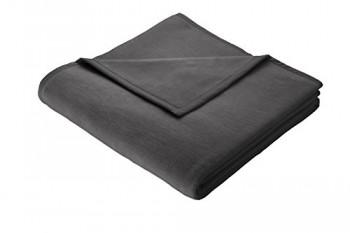 Biederlack-150-x-200-cm-Baumwolle-Home-Deckeberwurf-anthrazit-uni-0