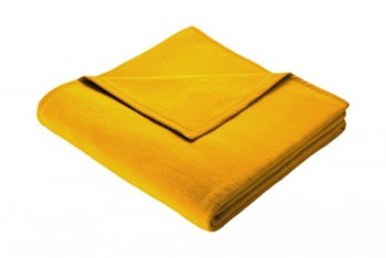 Biederlack-150-x-200-cm-bunt-Auswahl-Uni-Deckeberwurf-Gold-0