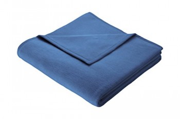 Biederlack-150-x-200-cm-bunt-Auswahl-Uni-Deckeberwurf-Kobaltblau-0