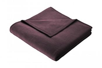 Biederlack-150-x-200-cm-bunt-Auswahl-Uni-Deckeberwurf-holunder-0