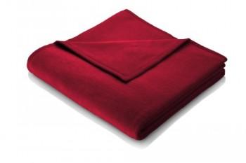 Biederlack-628350-Wohn-und-Kuscheldecke-60--Baumwolle-Veloursband-Einfassung-150-x-200-cm-Rosso-Orion-Baumwolle-0