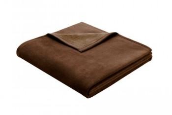 Biederlack-628664-Wohn-und-Kuscheldecke-60--Baumwolle-Samtband-Einfassung-150-x-200-cm-dunkelbraun-Exquisite-Baumwolle-0