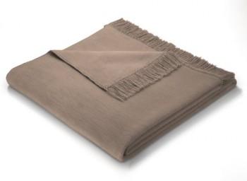 Biederlack-629821-Wohndecke-Sofa-berwurf-60--Baumwolle-mit-Fransen-100-x-200-cm-braun-Cover-Haselnuss-0