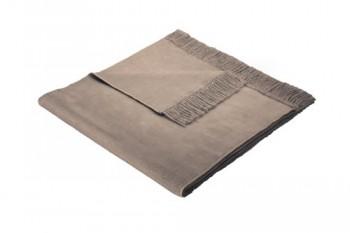 Biederlack-629838-Sesselschoner-60--Baumwolle-mit-Fransen-50-x-200-cm-braun-Cover-Haselnuss-0
