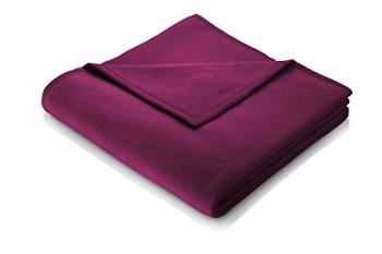 Biederlack-645968-Wohn-und-Kuscheldecke-60--Baumwolle-Veloursband-Einfassung-150-x-200-cm-Beere-Orion-Baumwolle-0