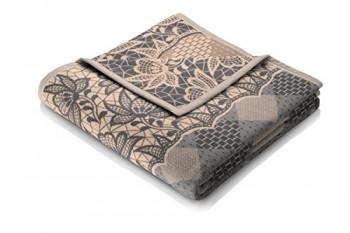 Biederlack-646149-Wohn-und-Kuscheldecke-60--Baumwolle-Samtband-Einfassung-150-x-200-cm-beige-Exquisite-Baumwolle-Lacy-Lane-0