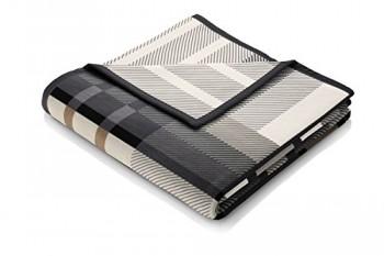Biederlack-646613-Wohn-und-Kuscheldecke-86--Polyacryl-Dralon-Veloursband-Einfassung-150-x-200-cm-braun-Thermosoft-Top-Scotland-Grey-0
