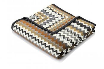 Biederlack-646651-Wohn-und-Kuscheldecke-86--Polyacryl-Dralon-Veloursband-Einfassung-150-x-200-cm-grau-Kamel-Thermosoft-Top-Avalon-0