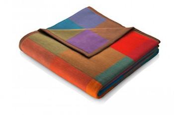 Biederlack-649539-Wohn-und-Kuscheldecke-100--Baumwolle-Samtband-Einfassung-150-x-200-cm-mehrfarbig-Pure-0