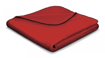 Biederlack-649904-Wohn-und-Kuscheldecke-60--Baumwolle-Zierstich-Einfassung-150-x-200-cm-rot-Aura-Tandoori-0