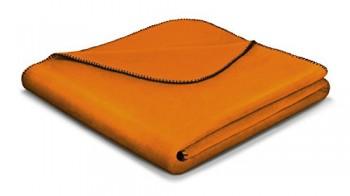 Biederlack-649911-Wohn-und-Kuscheldecke-60--Baumwolle-Zierstich-Einfassung-150-x-200-cm-Orange-Aura-Curry-0