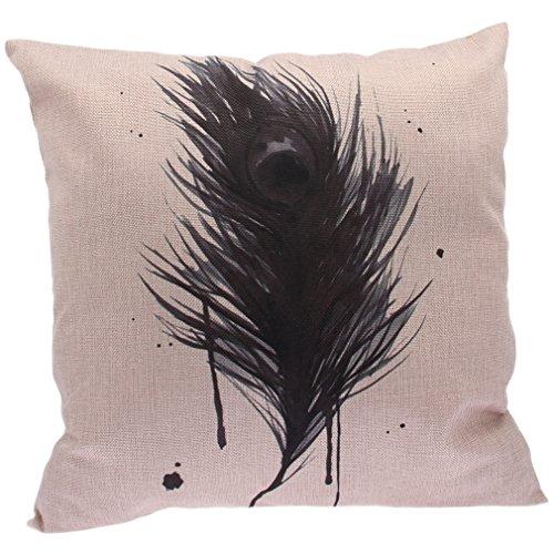 biwinky 1stk 45x45cm kissen sofakissen kissenbezug baumwolle kissenh lle beige kiss fall. Black Bedroom Furniture Sets. Home Design Ideas