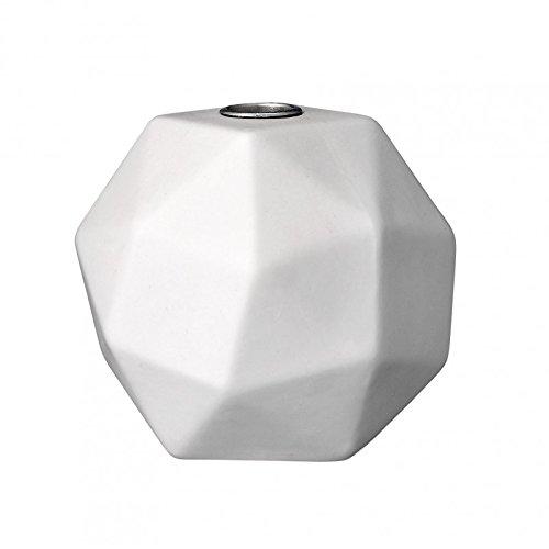 bloomingville kerzenhalter in grafischer form matt wei 11 3x11x11 2cm online kaufen bei woonio. Black Bedroom Furniture Sets. Home Design Ideas