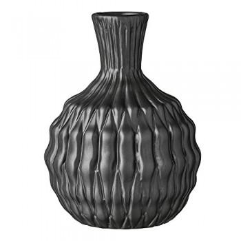 Bloomingville-Vase-Heavy-Structure-keramik-schwarz-15x20cm-0