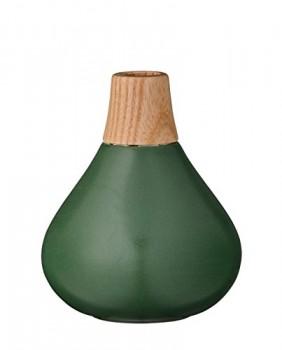Bloomingville-Vase-Holzhals-Ceramic-dunkelgrn-0