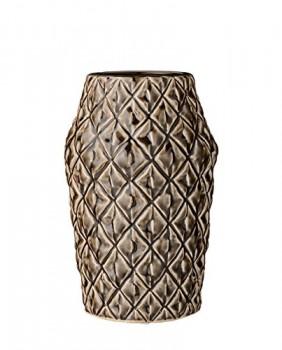 Bloomingville-Vase-Square-Structure-dark-chocolate-M-0