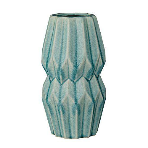 Bloomingville-Vase-Wide-Flute-Hellblau-11xh20cm-Blumenvase-Dekovase-0