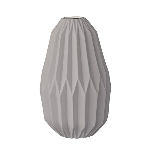Bloomingville-Vase-mit-grafischem-Muster-grau-15xH24cm-0