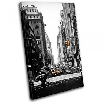 Bold-Bloc-Design-New-York-Taxi-Street-City-120x80cm-Leinwand-Kunstdruck-Box-gerahmte-Bild-Wand-hangen-handgefertigt-In-Grossbritannien-gerahmt-und-bereit-zum-Aufhangen-Canvas-Art-Print-0