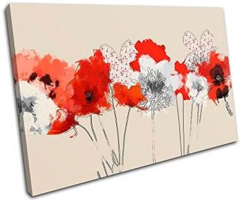 Bold-Bloc-Design-Painted-Flowers-Floral-120x80cm-Leinwand-Kunstdruck-Box-gerahmte-Bild-Wand-hangen-handgefertigt-In-Grossbritannien-gerahmt-und-bereit-zum-Aufhangen-Canvas-Art-Print-0