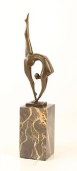 Bronzefigur-Bronze-Figur-Schlangenmensch-Contortionist-Athletik-Turnen-Pokal-36-cm-0