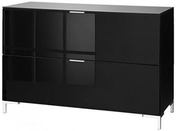 CS-Schmalmbel-45102507038-TV-Board-Cleo-Typ-13-109-x-50-x-73-cm-schwarz-schwarzglas-0