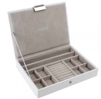 Carters-of-London-Schmuckkstchen-mit-Deckel-graue-Auskleidung-aus-Samt-klassische-Gre-Wei-0