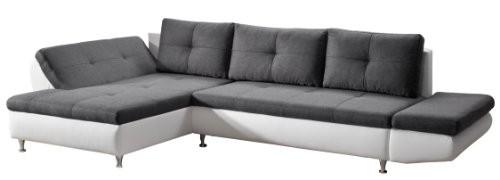 Cavadore-457-Polsterecke-Coutre-Longchair-2er-Bett-mit-Armteilfunktion-325-x-89-x-186-cm-Toscana-graphite-Bison-pure-white-0