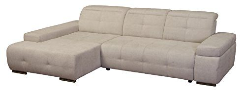 Cavadore-5036-Polsterecke-Mistrel-Longchair-XL-3-er-Bett-273-x-77-93-x-173-cm-Kati-grau-wei-0