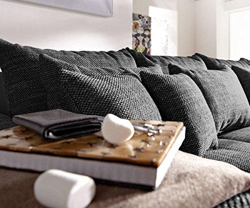 couch navin schwarz 275x116 cm sofa mit 12 kissen online kaufen bei woonio. Black Bedroom Furniture Sets. Home Design Ideas